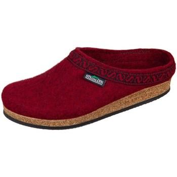 kengät Naiset Tossut Stegmann Firebrick Wollfilz Tummanpunainen