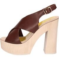 kengät Naiset Sandaalit ja avokkaat Suky Brand sandali marrone pelle AC799 Marrone