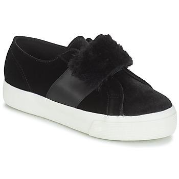 kengät Naiset Matalavartiset tennarit Superga 2750-LEAPATENTW Black