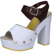 kengät Naiset Sandaalit ja avokkaat Suky Brand sandali bianco pelle marrone AC809 Multicolore