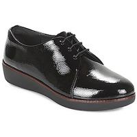 kengät Naiset Derby-kengät FitFlop CRINKLE PATENT Musta