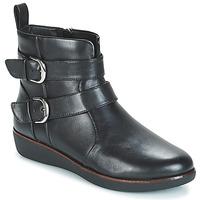 kengät Naiset Bootsit FitFlop LAILA DOUBLE BUCKLE Black