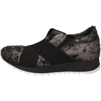 kengät Naiset Matalavartiset tennarit Andia Fora sneakers argento tessuto nero pelle AD326 Nero
