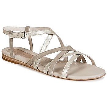 kengät Naiset Sandaalit ja avokkaat Marc O'Polo PRAVA Beige / Argenté