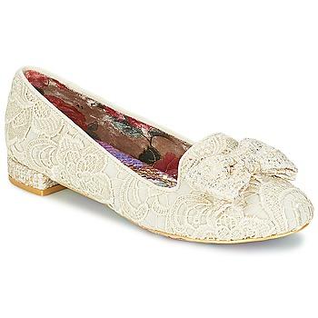 kengät Naiset Balleriinat Irregular Choice CHAN TILY Creme