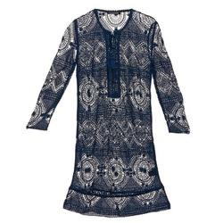 vaatteet Naiset Lyhyt mekko Antik Batik LEANE Laivastonsininen