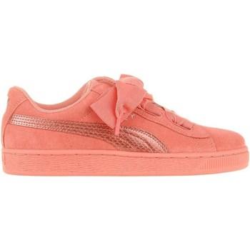 kengät Lapset Matalavartiset tennarit Puma Suede Heart Snk JR Vaaleanpunaiset