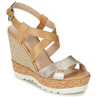 kengät Naiset Sandaalit ja avokkaat Bullboxer GLADOU Brown / Argenté