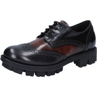 kengät Naiset Derby-kengät Lea Foscati classiche nero pelle lucida marrone AD743 Nero