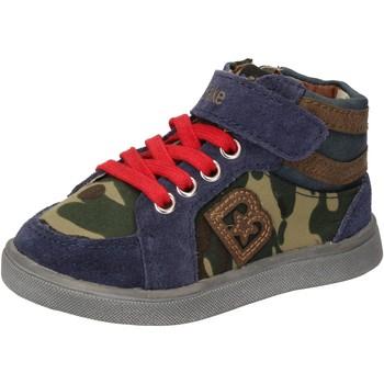 kengät Pojat Korkeavartiset tennarit Blaike sneakers blu camoscio verde pelle AD769 Multicolore