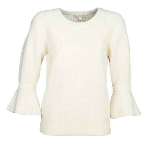vaatteet Naiset Neulepusero MICHAEL Michael Kors SHAKER ROUND SLV Valkoinen