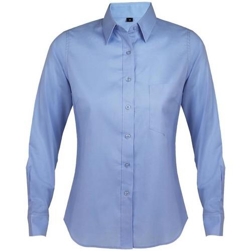 vaatteet Naiset Paitapusero / Kauluspaita Sols BUSINESS WOMEN Azul