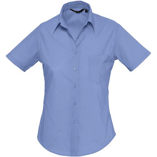 vaatteet Naiset Paitapusero / Kauluspaita Sols ESCAPE POPELIN WOMEN Azul