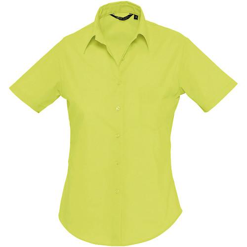 vaatteet Naiset Paitapusero / Kauluspaita Sols ESCAPE POPELIN WOMEN Verde