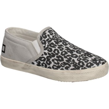 kengät Tytöt Tennarit Date slip on bianco tessuto nero AD838 Multicolore