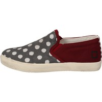 kengät Tytöt Tennarit Date slip on bordeaux tessuto grigio AD841 Rosso