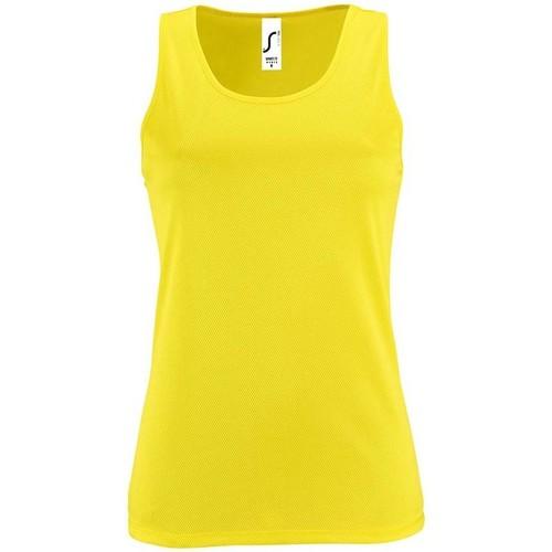 vaatteet Naiset Hihattomat paidat / Hihattomat t-paidat Sols SPORT TT WOMEN Amarillo