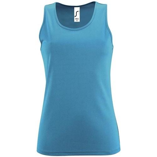 vaatteet Naiset Hihattomat paidat / Hihattomat t-paidat Sols SPORT TT WOMEN Azul