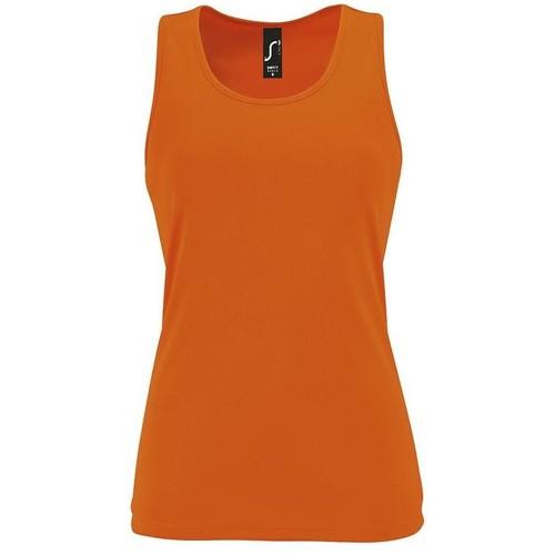 vaatteet Naiset Hihattomat paidat / Hihattomat t-paidat Sols SPORT TT WOMEN Naranja