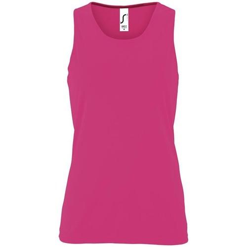 vaatteet Naiset Hihattomat paidat / Hihattomat t-paidat Sols SPORT TT WOMEN Rosa