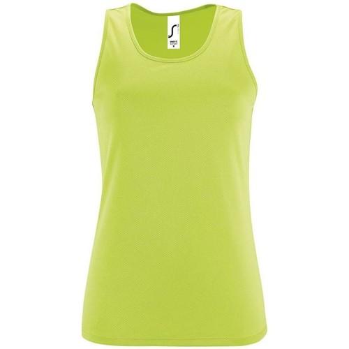 vaatteet Naiset Hihattomat paidat / Hihattomat t-paidat Sols SPORT TT WOMEN Verde