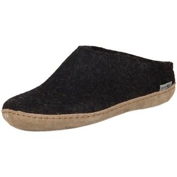 kengät Naiset Tossut Glerups DK Charcoal Lammwollfilz Mustat