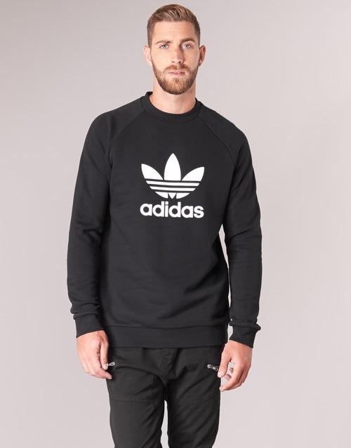 vaatteet Miehet Svetari adidas Originals TREFOIL CREW Black