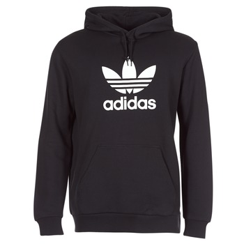 vaatteet Miehet Svetari adidas Originals TREFOIL HOODIE Black
