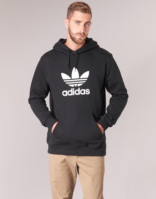 vaatteet Miehet Svetari adidas Originals TREFOIL HOODIE Musta