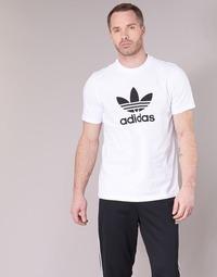 vaatteet Miehet Lyhythihainen t-paita adidas Originals TREFOIL T-SHIRT White