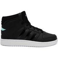 kengät Naiset Korkeavartiset tennarit adidas Originals VS Hoopster Mid Mustat