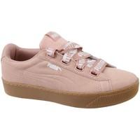 kengät Naiset Matalavartiset tennarit Puma Vikky Platform Ribbon Bold Vaaleanpunaiset