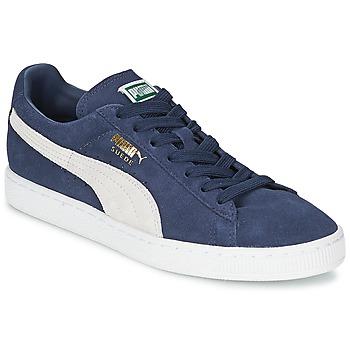 kengät Matalavartiset tennarit Puma SUEDE CLASSIC Blue / White