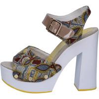 kengät Naiset Sandaalit ja avokkaat Suky Brand sandali beige tessuto vernice AB308 Beige