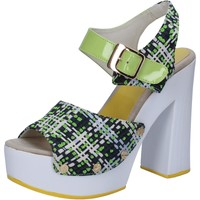 kengät Naiset Sandaalit ja avokkaat Suky Brand sandali verde tessuto vernice AB309 Verde
