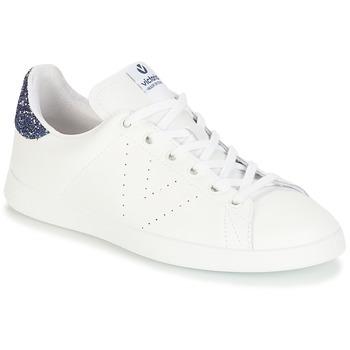 kengät Naiset Matalavartiset tennarit Victoria DEPORTIVO BASKET PIEL White / Blue
