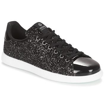 kengät Naiset Matalavartiset tennarit Victoria DEPORTIVO BASKET GLITTER Black
