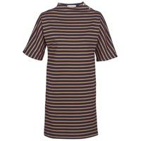 vaatteet Naiset Lyhyt mekko Petit Bateau TUESDAY Laivastonsininen / Yellow