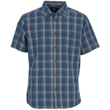 vaatteet Miehet Lyhythihainen paitapusero Quiksilver EVERYDAY CHECK SS Blue