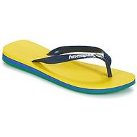 kengät Miehet Varvassandaalit Havaianas Brasil Layers Yellow