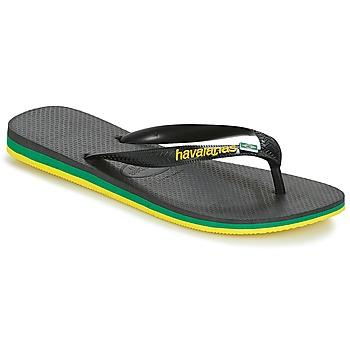 kengät Miehet Varvassandaalit Havaianas Brasil Layers Black