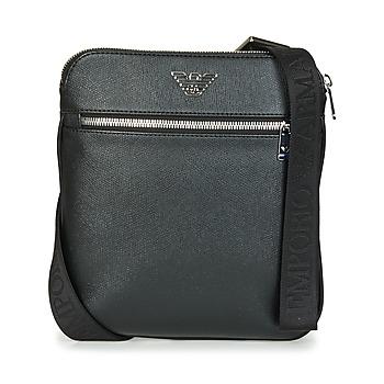 laukut Miehet Pikkulaukut Emporio Armani BUSINESS FLAT MESSENGER BAG Black
