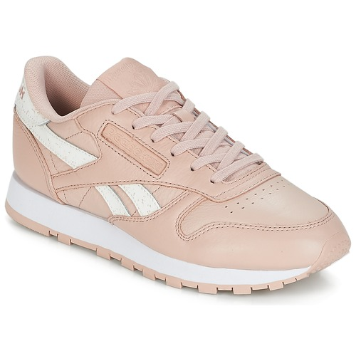 check out 36ef1 9f8e4 kengät Naiset Matalavartiset tennarit Reebok Classic CLASSIC LEATHER Pink    White