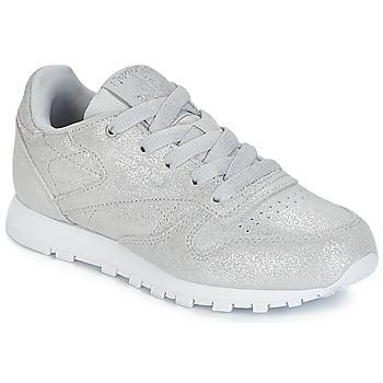 kengät Tytöt Matalavartiset tennarit Reebok Classic CLASSIC LEATHER C Silver