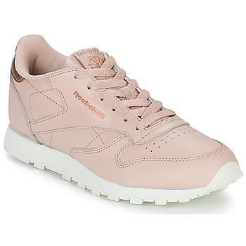 kengät Tytöt Matalavartiset tennarit Reebok Classic CLASSIC LEATHER J Pink