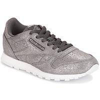 kengät Tytöt Matalavartiset tennarit Reebok Classic CLASSIC LEATHER J Grey / Metallinen