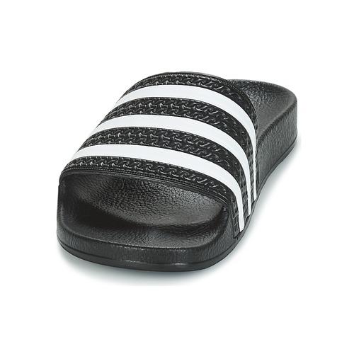 Adidas Originals Adilette Black / White - Ilmainen Toimitus- Kengät Rantasandaalit