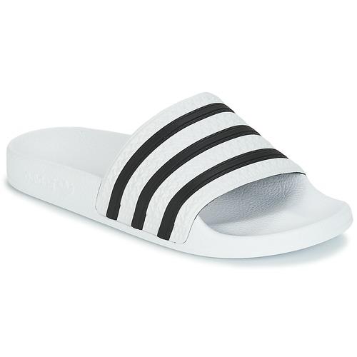 kengät Rantasandaalit adidas Originals ADILETTE White / Black