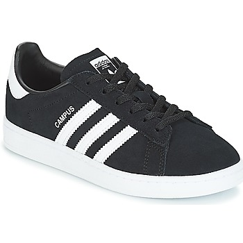 kengät Lapset Matalavartiset tennarit adidas Originals CAMPUS C Black
