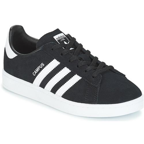 kengät Lapset Matalavartiset tennarit adidas Originals CAMPUS C Black